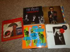 Joblot X5 Mint Elvis Costello,Police,Sting Uk Vinyl Lp Record Collection Rock