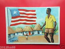 figurines cromo card figurine sidam gli stati del mondo 7 liberia bandiere flags