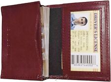 New women men's Leather Business Credit Card ID card Holder fifty cards case #15