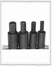 "Metric Hex Bit Driver Set 4 Pcs  10mm, 12mm, 14mm & 17mm Bits 1/2"" Sq.Dr.on rail"