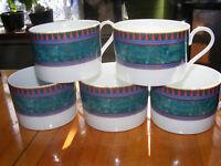 Lot of 5 Mikasa Coffee Mugs Cups M5111 La Scala Fine China Green S4C4