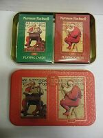 Norman Rockwell The Saturday Evening Post Playing Cards Set and Tin 012518DBT5