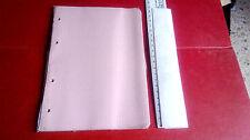 Fogli di ricambio, colorati ROSA per quaderno con anelle BANZATO * new