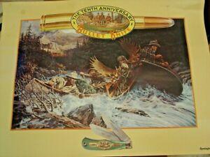 """Remington USA 18""""x24"""" 10th Anniversary 1982-1992 Bullet Knife Color Poster"""