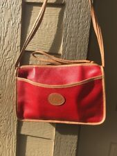 Del Rio Top Grain Leather Works Costa Rica Hand Made Pebbled Red Tan Handbag WoW