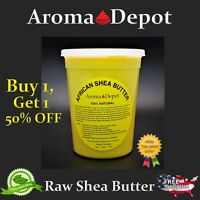 Raw African Shea Butter 2 Lb YELLOW From GHANA Natural UNREFINED Pure