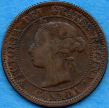 Canada 1884 1 Cent One Large Cent Coin - VG/F