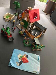 Playmobil Set Bauernhof , Traktor und Kaninchenstall