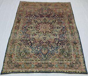 Wonderful Old Antique Lavar Keerman carpet  9,6x7,3 Ft