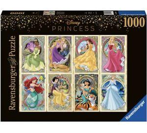 Ravensburger DISNEY PRINCESSES ART NOUVEAU Jigsaw Puzzle 1000 pc - FREE UK P&P