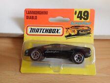 Matchbox Lamborghini Diablo in Black on Blister