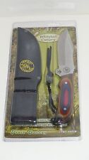 KNIFE FROST WHITETAIL, 9 INCH HUNTING FIXED BLADE, W/SHEATH&LANYARD, CPWT-980FW
