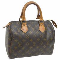LOUIS VUITTON SPEEDY 25 HAND BAG MONOGRAM CANVAS LEATHER M41528 A46514k