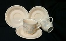 Noritake Keltcraft Kilkee 2 Cup mug and 3 Saucer Ireland Butterfly Flowers 9109
