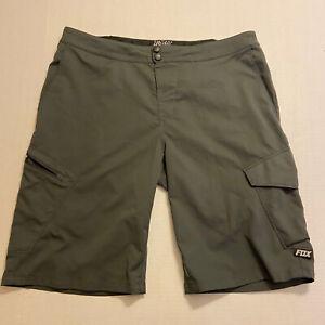 Fox Racing Ranger Gray Mountain Bike Cycling Cargo Shorts Mens Size 38