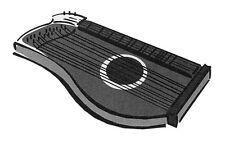 Aufkleber Zither Zupfinstrumente Musik Noten (2)