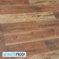 SAMPLE of Rustic Reclaimed Barnwood Look Waterproof Click Flooring - Split Rail