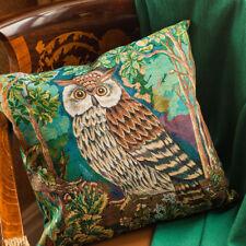 "18x18"" Decorative Gobelin Pillow with Eagle-Owl Print Living Room Decor"