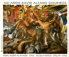 Chile 1997 Souvenir Sheet 1214 Scott David Alfaro Siqueiros Muralist, scarce!!