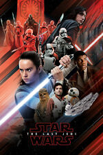 STAR WARS THE LAST JEDI MOVIE RED MONTAGE 91X61CM MAXI POSTER NEW OFFICIAL MERCH