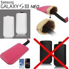 CUSTODIA FONDINA Pelle Sleeve Ultra Slim PROTEZIONE per i9301 Galaxy S3 NEO