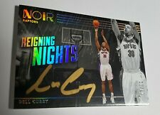 2019-20 Panini Noir DELL CURRY Reigning Nights Auto SILVER #13/99 Raptors