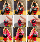 TV Squid Game Keychain Soldier Triangle Series Charms 3dDoll Figurine Key Rings