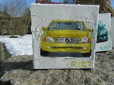 Öl Bild Mercedes 500 SL R 129 auf Leinwand, Gemälde, Unikat, Poster, direkt vom