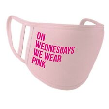 On Wednesdays We Wear Pink Face Cover M*sk - Washable PR799 Funny Slogan
