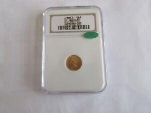 1862 , Indian Princess Gold Dollar ,  , G$1 , NGC & CAC , MS 63