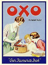OXO, Retro metal Aluminium Vintage Sign, Gift, Kitchen