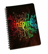 A5 Inspire Pattern Spiral Notebook Hardcover Lined Notes Journal Stationery Pad