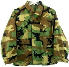 Cold Weather Field Jacket Coat Military Issue Woodland Camouflage Size Med Short