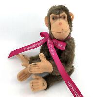 Steiff Jocko Chimp Mohair Plush Monkey 15cm 6in Jointed 1950s no ID Vintage