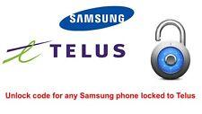 Unlock code Samsung Galaxy S3, S4, S5, S6, S6 Edge, S7, S8 locked to Telus Koodo
