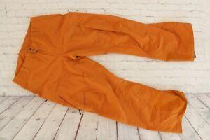 Mens PATAGONIA Orange Gold Primo Snow Ski GORETEX Waterproof Pants Large