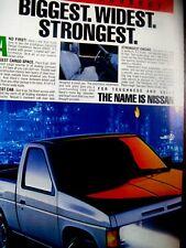 "1987 Nissan Hardbody Pick Up Original Print Ad-8.5 x 10.5""BIGGEST STRONGEST"