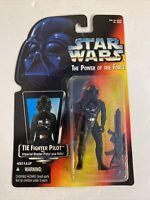Star Wars POTF 2 TIE FIGHTER PILOT Action Figure Kenner 1995 Red Card MOC NEW