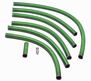 Premium OM603 Mercedes Green Braided Viton Diesel Return Lines (Biodiesel Safe!)