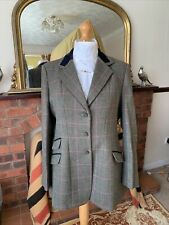 Ladies Shires Huntingdon Green/Pink Tweed Show Jacket Size 46/22 Excellent