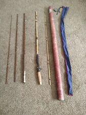2 Vintage Fiber Glass Fishing Rods. 1 Shakespeare, 1 Pflueger Medalist W Case.