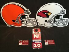 Arizona Cardinals Cleveland Browns 12/15 Red NP North Preferred Lot Parking Pass