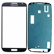 2x Samsung Galaxy S4 I9500 I9505 i9515 LCD Display GlasScheibe Front Blau+Kleber