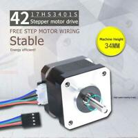 NEMA17 17HS3401S 1,5 A 38 mm 4-adriger 42-adriger Schrittmotor für 3D Drucker