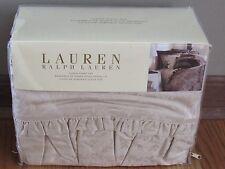 4PC SET Ralph Lauren MARGEAUX Cream Ruffled QUEEN SHEET SET ~Rare~