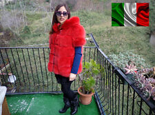 GIACCA pelliccia volpe Silberfuchs coat golden fox fur red fourrure de renard