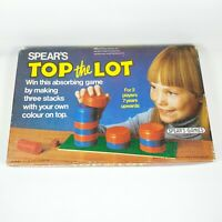 Retro TOP THE LOT Vintage Spears Stacking Game Complete 80s 7+ 2+ Players