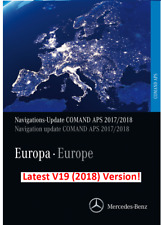 LATEST Mercedes NTG2 2018 Comand APS Map DVD Europe v19 + Firmware Update V12