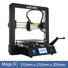 "Anycubic Mega S 3D Printer Kit UltraBase Heated 3.5"" TFT + Free 10m PLA Filament"