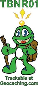 Signal -wandert - Static Car Sticker Trackable Number Geocaching Frog